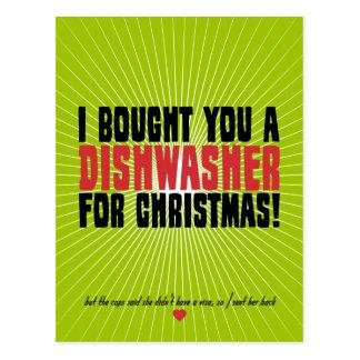 Ich kaufte Sie eine Spülmaschine für Weihnachten Postkarten