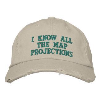 Ich kenne alle Kartenprojektionen Bestickte Kappe