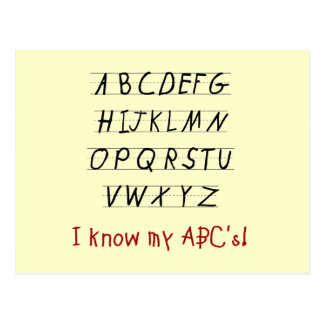 Ich kenne meine ABCs T-Shirts und Geschenke Postkarte