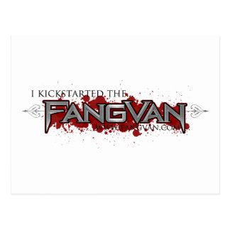 """""""Ich Kickstarted das offizielle FangVan"""" Postkarte"""