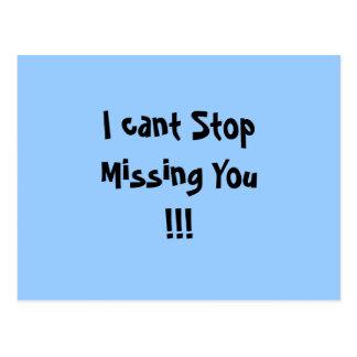 Ich kippe den vermissten Halt Sie!!! Postkarte