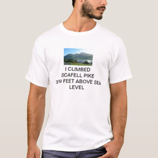 ICH KLETTERTE SCAFELL PIKE 3209 FUSS ÜBER T-Shirt