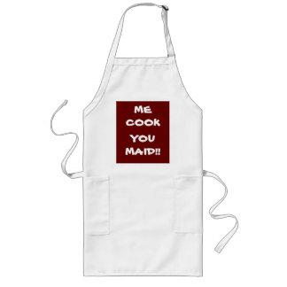 Ich Koch Sie Mädchen! >Funny Redewendungen auf Lange Schürze