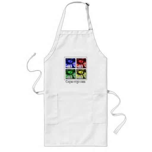 Ich koche; deshalb bin ich lateinische Schürze