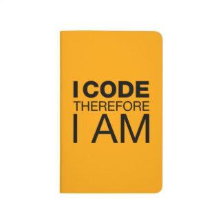 Ich kodiere deshalb mich bin taschennotizbuch