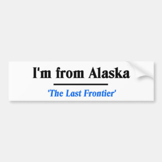 Ich komme aus Alaska Autoaufkleber