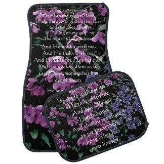Ich komme zum Garten-allein Blumenauto-Matten-Set Auto Fussmatte