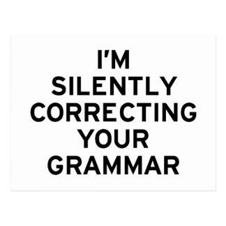 Ich korrigiere Grammatik Postkarte