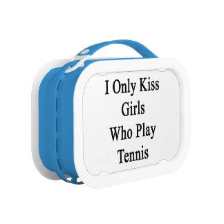 Ich küsse nur Mädchen, die Tennis spielen Brotdose