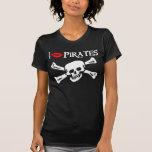 Ich küsse Piraten-Dunkelheits-T-Shirt