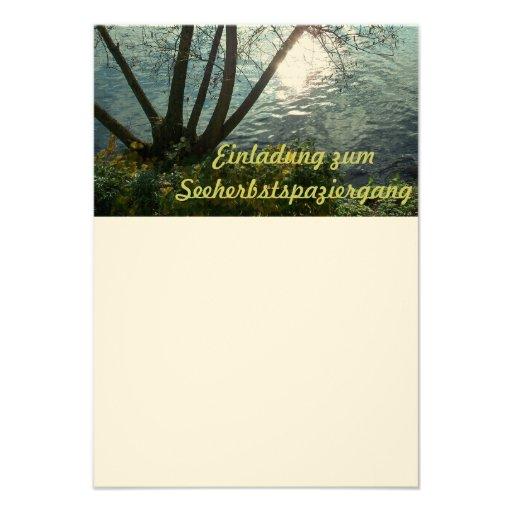 Ich lade dich ein zum Seeherbstspaziergang Personalisierte Einladungen