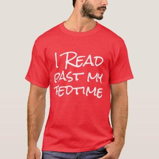 Ich las hinter meiner Schlafenszeit T-Shirt