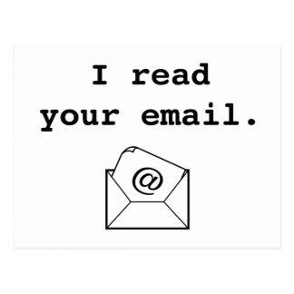 Ich las Ihre E-Mail Postkarte