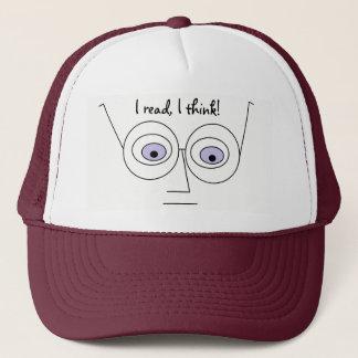 Ich las mich denke cooles Gesichts-tragende Gläser Truckerkappe