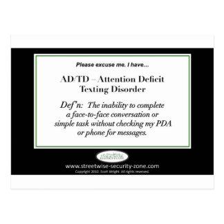 Ich lasse Aufmerksamkeits-Defizit Störung simsen Postkarte