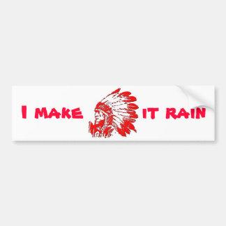 Ich lasse es regnen autoaufkleber