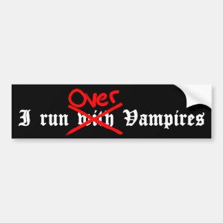 Ich lasse vorbei Vampire laufen Autoaufkleber