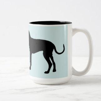 Ich laufe auf Kaffee und küsse Tasse