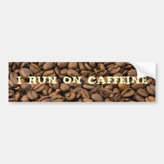 Ich laufe auf Koffein Autoaufkleber