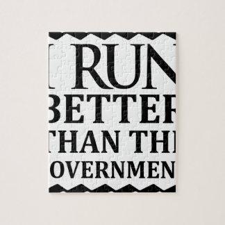 Ich laufe besser als die Regierung Puzzle