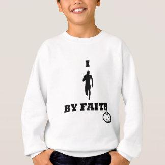 Ich laufe durch Glauben Sweatshirt