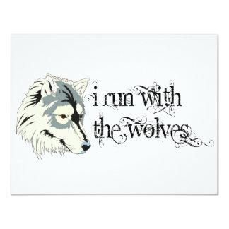 Ich laufe mit den Wölfen -- Vampire 10,8 X 14 Cm Einladungskarte
