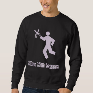 Ich laufe mit Schere-Sweatshirt Sweatshirt