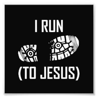 Ich laufe zu Jesus Fotodruck