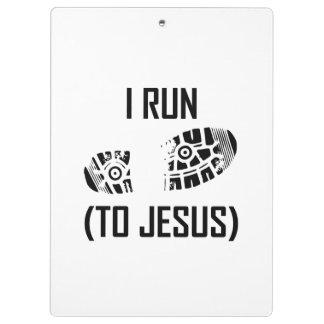 Ich laufe zu Jesus Klemmbrett