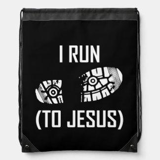 Ich laufe zu Jesus Turnbeutel