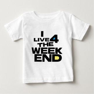 Ich lebe 4 das Wochenende Baby T-shirt