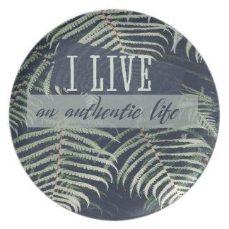 Ich lebe ein authentisches Leben Melaminteller