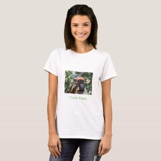 Ich lebe frei! Tierschutz-T - Shirt