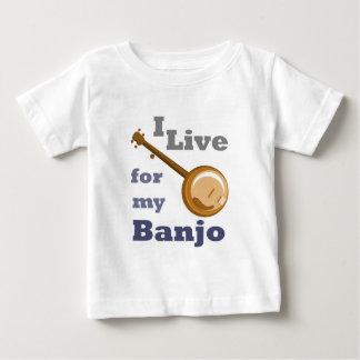Ich lebe für mein Banjo Baby T-shirt