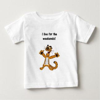 Ich lebe für Wochenenden Baby T-shirt