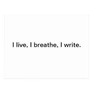 Ich lebe, ich atme, ich schreibe postkarte