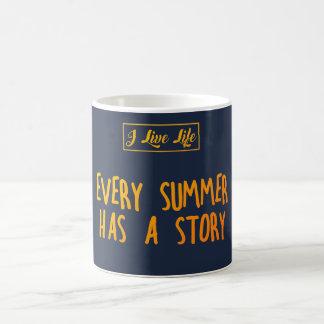 Ich lebe Leben-Sommer-Zitat, das JEDER SOMMER eine Kaffeetasse