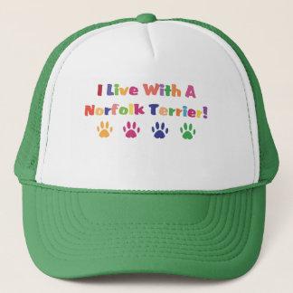 Ich lebe mit einem Norfolk Terrier Truckerkappe