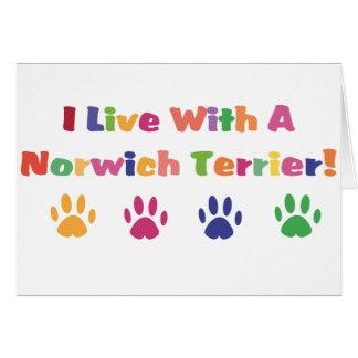 Ich lebe mit einem Norwich Terrier Karte