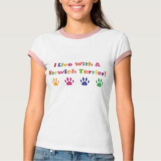 Ich lebe mit einem Norwich Terrier T-Shirt