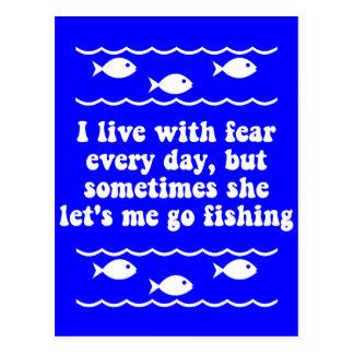 Ich lebe mit Furcht jeden Tag Postkarte