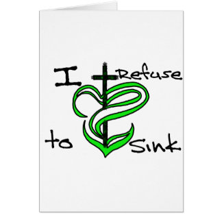 Ich lehne ab, - Grün zu sinken Karte