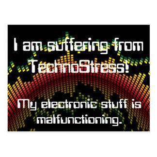 Ich leide unter TechnoStress! Postkarte
