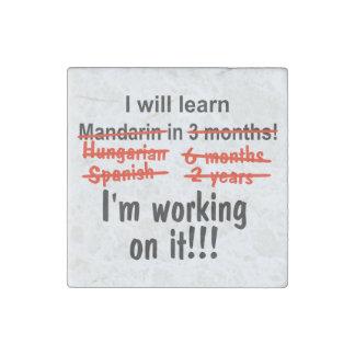 Ich lerne Mandarine in 3 Monate! Stein-Magnet