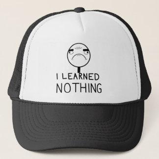 Ich lernte nichts truckerkappe