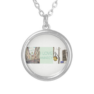 """""""Ich Liebe-Annecy"""" Halskette mit rundem Anhänger"""