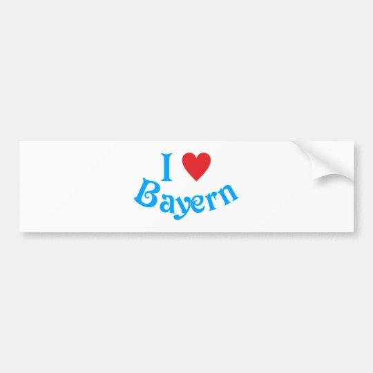 Ich liebe Bayern I love Bavaria Autoaufkleber