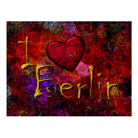 Ich Liebe Berlin Postkarte