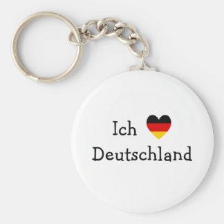Ich liebe Deutschland Standard Runder Schlüsselanhänger