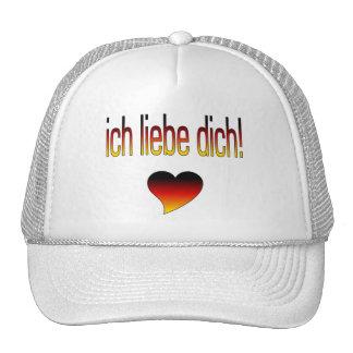 Ich Liebe Dich! Deutsche Flaggen-Farben Retro Cap
